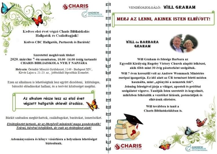 Charis nyílt nap 2020 március 7